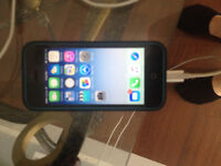 Blue IPhone 5C,16gig with Apple case and charger