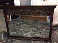 Jaycee dark oak wood mirror