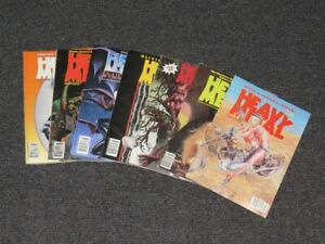 Vintage Sci-Fi Horror Heavy Metal Magazine Size Comic Book Lot