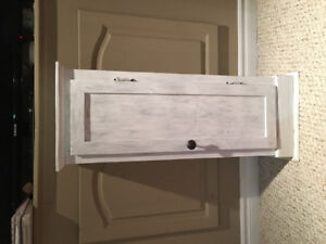 Small (Distressed) White Cabinet