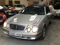 MERCEDES CLK 320 ELEGANCE 3.2 V6 Convertible Automatic Low Mileage 1999 (S)