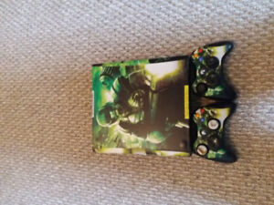 XBox 360 with two controllers and 14 games