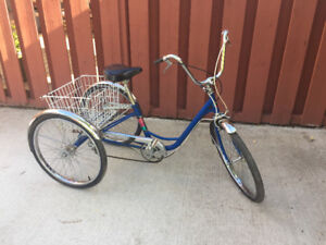 3 wheel bicycle in good working condition will sell for $275.00