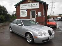 2007 Jaguar S-TYPE 2.7D V6 SE Auto Silver With Charcoal Leather 66,000 Miles
