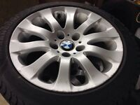 """Bmw mags 17"""" winter tires"""
