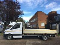 2015 MERCEDES-BENZ SPRINTER 2.1 313CDI DROPSIDE FLAT BED 14FT 130BHP TAIL-LIFT.