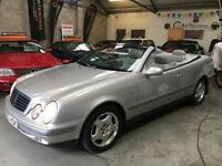 MERCEDES CLK 320 ELEGANCE 3.2 V6 W208 Convertible Automatic Low Mileage 1999 (S)