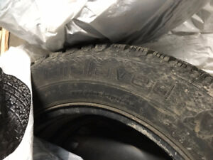 Gislaved Used Tires on Steel Rims with VW Hubcaps 215 60 16