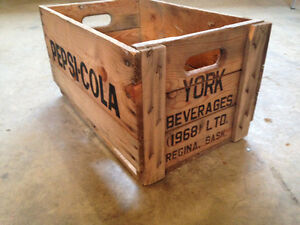 Pepsi/York Beverages Wood Crate