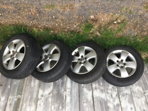 4 Cooper 195/65/R15 All Season Tires on VW Alloy Rims