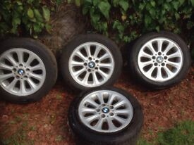 2006 BMW alloy wheels with good tyres