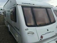 Compass corona 505 2004 5 berth bunks both ends touring caravan