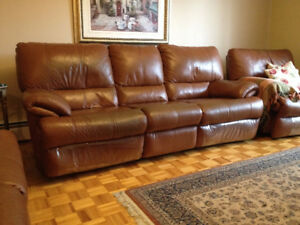 Divan Inclinable en Cuir  *** Leather Reclining Couch