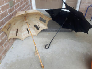 2 old umbrellas for Halloween costume  or decorating