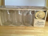 Brand new set 3 large storage jars
