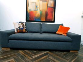 Sancal Spanish Designer Jazz 3 seater sofa in grey wool RRP £1630