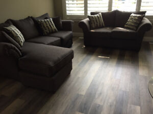 NEW Matching Sofa and Love Seat with Chaise Seat