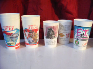 70s and 80s Star Wars cups