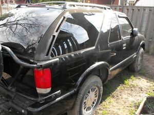 GMC Jimmy rear spare tire rack & 2 new wheels/tires London Ontario image 3