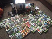 XBOX 360 + KINECT + 38 GAMES + 2 ORIGINAL PADS