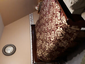 Sleigh king size bed and matching dresser