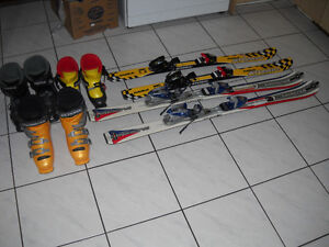 Skiis, booots and accessories for sale
