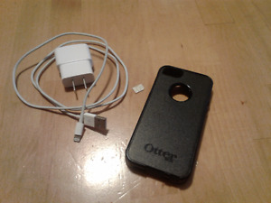iPhone 5 Otterbox case and Apple Charger
