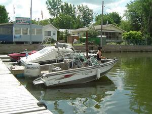 Bateau de pêche Fischerman de LUND 17' avec moteur Honda 115 hp