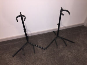 2 - SINGLE GUITAR/BASS STANDS - USED