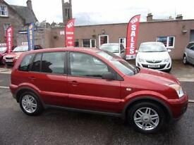 FORD FUSION 1.4 zetec climate 2008 Petrol Manual in Red