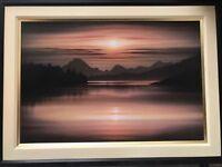 Large framed textured print