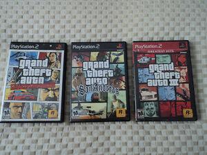 Plusieurs jeux pour PlayStation 2 à vendre