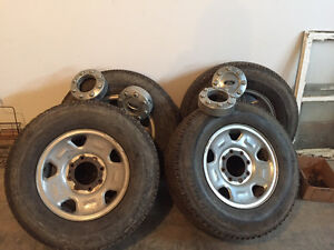 265/70R17 Michelin LT All Season Tires with Ford Rims