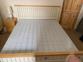 Super King-size bed with mattress as new