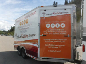 Cargo Trailer - Custom Fitted Mobile Fashion Retail Store