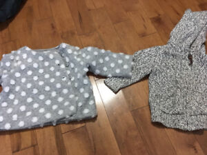 6-12 months Roots sweater              6-12 months Baby Gap coat
