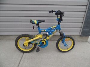 "Kids / Boys Bike 14"" Wheels Front and Rear Suspension"