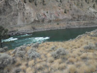 Placer gold claim on Thompson River by Spences Bridge