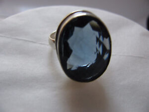 Genuine Sterling Silver & Iolite Ring Size 8