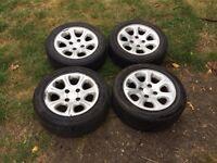 Citroen saxo,Peugeot 206,206 vtr wheels,£100 no offers