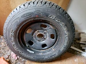 Brand new Goodyear Wrangler Truck Tire & Rim