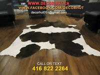 Select brand new hand selected top quality printed cow hide rug