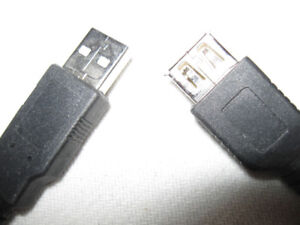 3 USB Cables + rca cable + floodlight-Lot $5