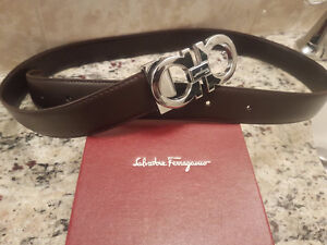 Authentic Salvatore Ferragamo Mens Brown Leather