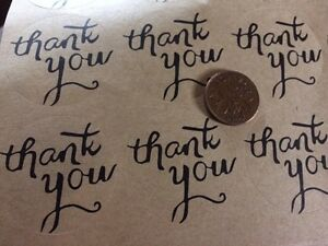 Thank you - round stickers