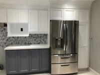 Kitchen Cabinet refinishing Spray Painting 416-881-3583