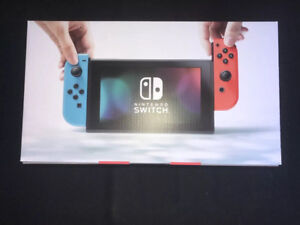 Brand new and sealed Nintendo Switch Console tout neuf et scellé
