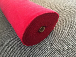 Red fabric on roll. Kitchener / Waterloo Kitchener Area image 1