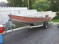 14ft SPRINGBOK WITH 15HP EVINRUDE AND TRAILER