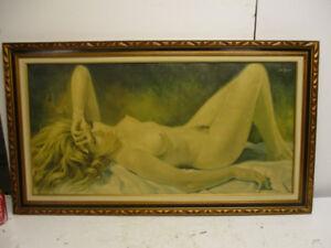 Tableau - Femme nue - signé